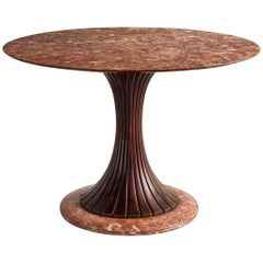 Osvaldo Borsani Round Marble Dining Table