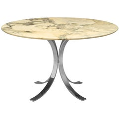 Osvaldo Borsani Round Marble Table 'T69' with Metal Base
