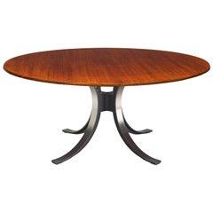 Osvaldo Borsani Round Rosewood Table for Tecno