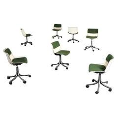 Osvaldo Borsani Set of 6 Chairs from Tecno, Italy, 1966s