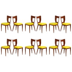 "Osvaldo Borsani Set of Twelve '12' ""Triennale"" Dining Chairs"