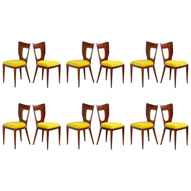 "Osvaldo Borsani Set of Twelve '12' ""Triennale"" Dining Chairs For Sale"