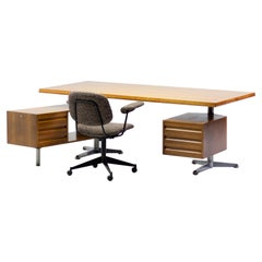 Osvaldo Borsani T95 Executive Desk with Matching Desk Chair