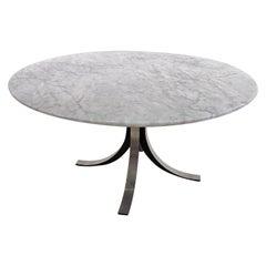 Osvaldo Borsani Table for Tecno in Carrara Marble