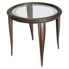 Osvaldo Borsani Tea Table Wood Glass, 1940, Italy