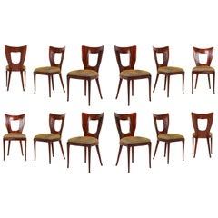 Osvaldo Borsani 'Triennale' Original Dining Chairs, Set of 12