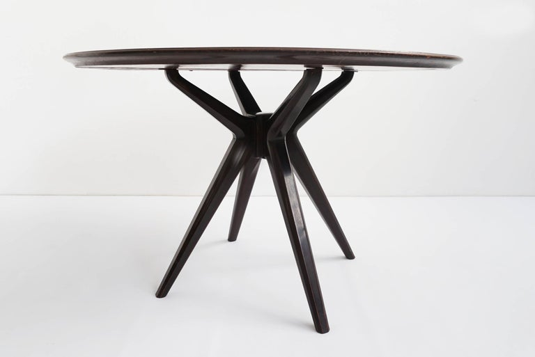 Osvaldo Borsani Unique Piece Reversed Painted Glass Table, ABV 1950 Italy For Sale 3