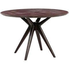 Osvaldo Borsani Unique Piece Reversed Painted Glass Table, ABV 1950 Italy