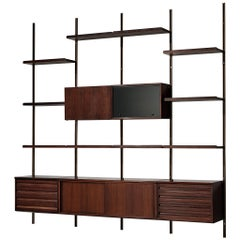 Osvaldo Borsani Wall Unit E22 for Tecno in Rosewood