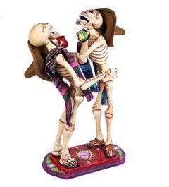 17'' Los Compadres / Mexican Folk Art Carton Sculpture