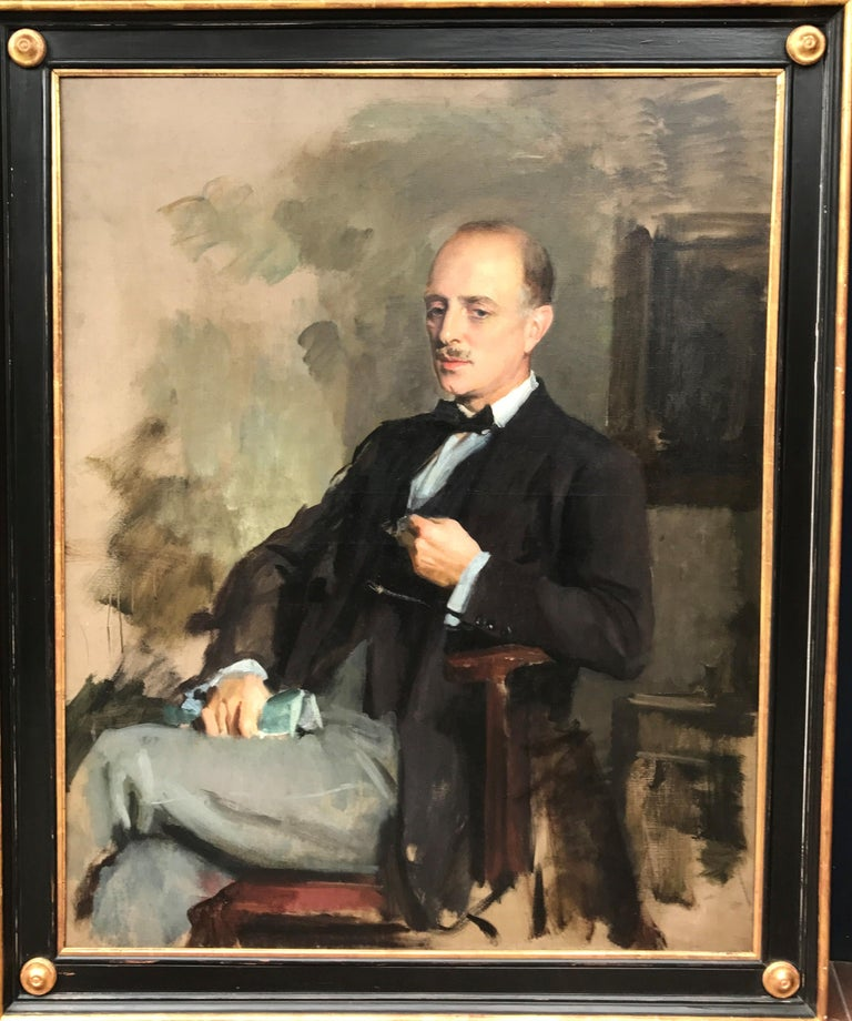 """Sir Oswald Birley MC RA (English, 1880-1952)  Portrait of Edward Charles Grenfell, 1st Baron St Just (1870-1941) 1922 Oil on canvas Framed 57 x 47 inches  Provenance Painted by the Royal Family's favourite portraitist, Sir Oswald Birley, """"the man to"""