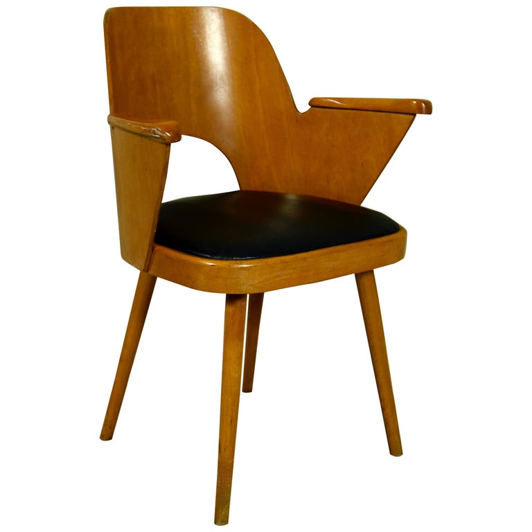 Oswald Haerdtl Bent Plywood Barrel Chair For Sale At 1stdibs