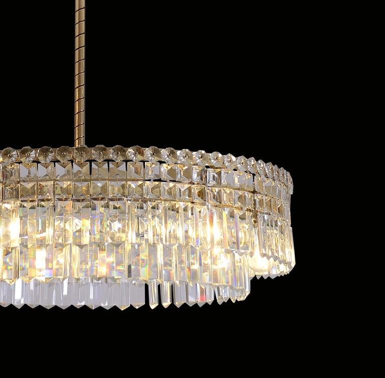 Oswald Haerdtl Lobmeyr Midcentury Large Crystal Chandelier, 1950 4