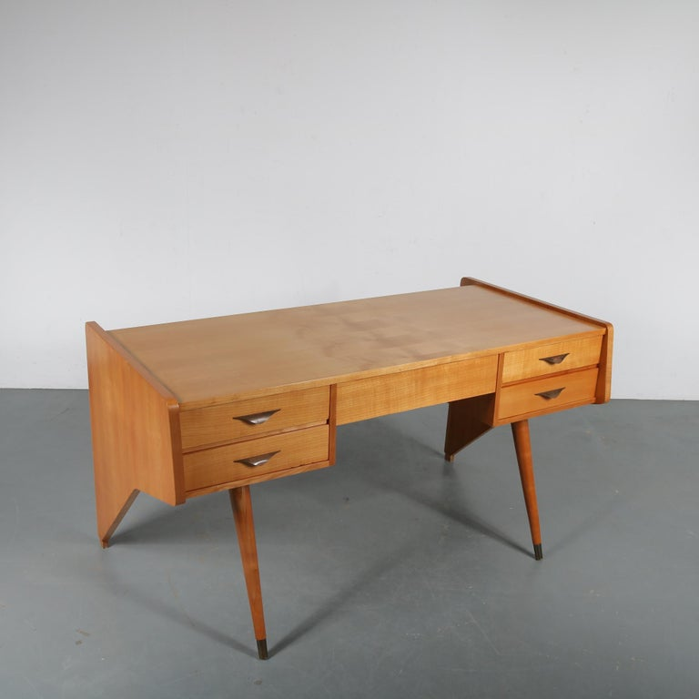 "Mid-Century Modern Oswald Vermaercke ""Oslo"" Desk for V-Form, Belgium, 1950 For Sale"