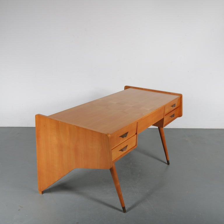 "20th Century Oswald Vermaercke ""Oslo"" Desk for V-Form, Belgium, 1950 For Sale"