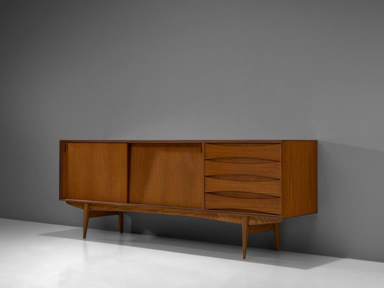 Oswald Vermaercke for V-Form, 'Paola' sideboard, teak, Belgium, 1959.