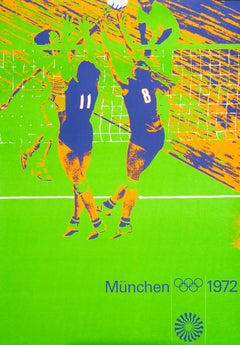 """""""Olympic Games 1972 - Volleyball"""" Munich Sports Original Vintage Poster"""