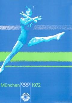 """Olympic Games 1972 - Women's Gymnastics"" Munich Sports Original Vintage Poster"