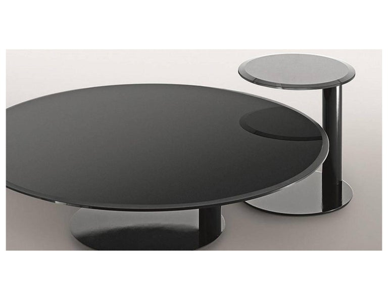 Modern Gallotti & Radice Oto Mini Glass Coffee and Side Table For Sale
