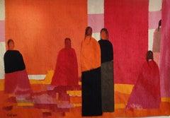 Ottavalo Market, Tapestry by Bernard Cathelin and A3 Workshop, 1979