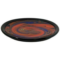 "Ottavio Missoni Italian Murano Glass ""Mercurio"" Plate for Arte Vetro Murano 1980"