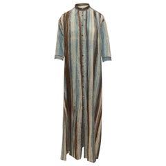 Otte Grey & Multicolor Striped Cotton Dress