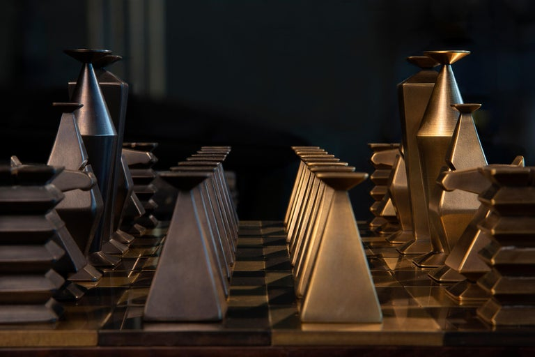Contemporary Otterburn Chess Set For Sale