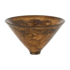 Otto and Gertrude Natzler Funnel Shaped Bowl
