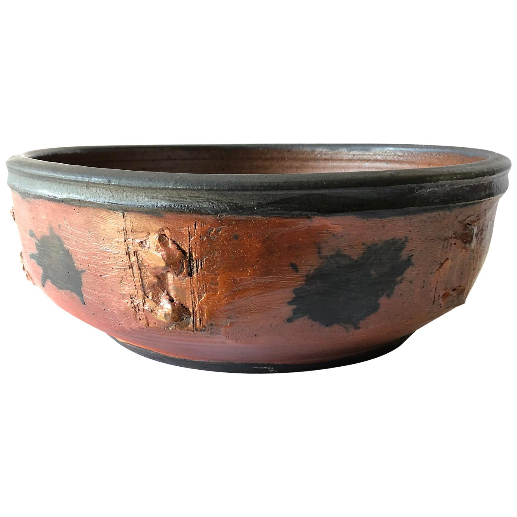 Massive Otto and Vivika Heino California Studio Stoneware Pottery Bowl