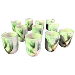 Otto and Vivika Heino Mid-Century Modern Ceramic Pottery 12-Piece Goblet/Cup Set