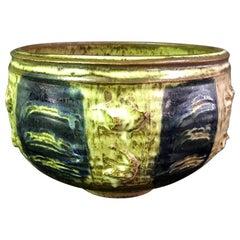 Otto and Vivika Heino Midcentury Large Hand Thrown Ceramic Pottery Bowl