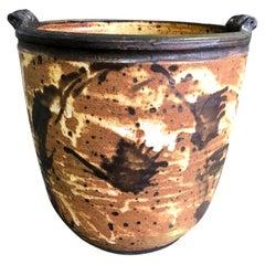 Otto and Vivika Heino Monumental Hand Thrown Ceramic Six Bird Head Bowl Pot