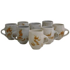 Otto and Vivika Heino Pottery Set of 8 Cups