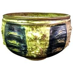 Otto and Vivika Heino Signed Midcentury Large Hand Thrown Ceramic Pottery Bowl