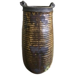 Otto and Vivika Heino Tall Hand Thrown Ceramic Pottery Bird Vase, circa 1960