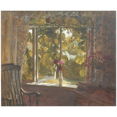 Otto Bache Painting, A Summer Day from the Artist's Living Room
