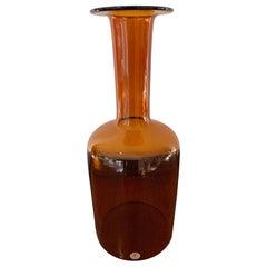 Otto Brauer Glass Vase by Kastrup Holmegaard