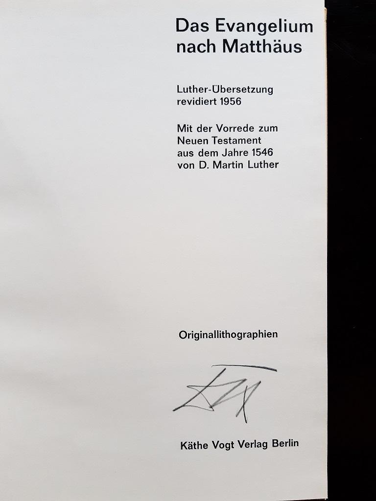 Evangelium nach Matthäus - Rare Book Illustrated by Otto Dix  - 1960 For Sale 2