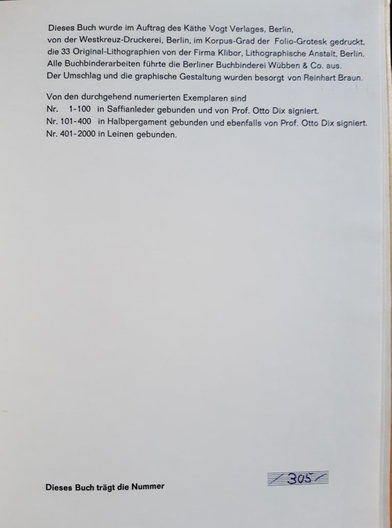 Evangelium nach Matthäus - Rare Book Illustrated by Otto Dix  - 1960 For Sale 3
