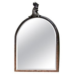 Otto du Plessis, Rooster Mirror, Patinated and Polished Bronze