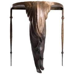 Otto du Plessis, Rooster, Patinated and Polished Bronze Table