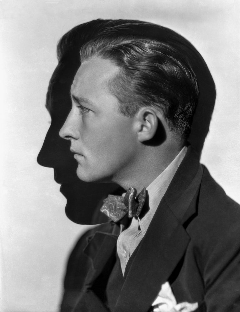 Otto Dyar Black and White Photograph - Bing Crosby Artistic Profile Fine Art Print
