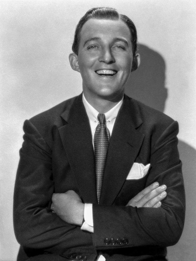 Otto Dyar Black and White Photograph - Bing Crosby Laughing with Arms Crossed Fine Art Print