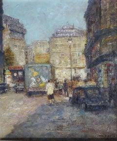 Lafayette Street, Paris. Oil on canvas, 61x50 cm