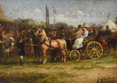 Horse festival - Otto Eerelman, Oil Paint on Panel