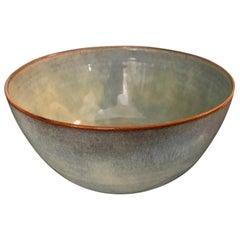 Otto & Gertrud Natzler Signed Soft Pearl Green Blue Glazed Midcentury Bowl