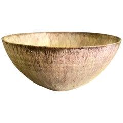 Otto & Gertrud Natzler Signed Volcanic Glazed Mid-Century Modern Large Bowl 1936