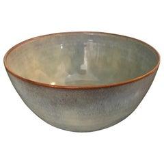 Otto & Gertrud Natzler Soft Pearl Green Blue Glazed Midcentury Bowl