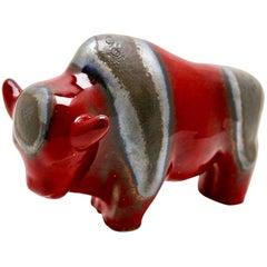Otto Keramiek Buffalo Figurine by Otto Gerharz