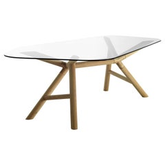 Otto Large Dining Table in Natural Ash Base, by Paolo Cappello